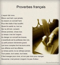 Proverbes français... #quotes, #citations, #pixword,