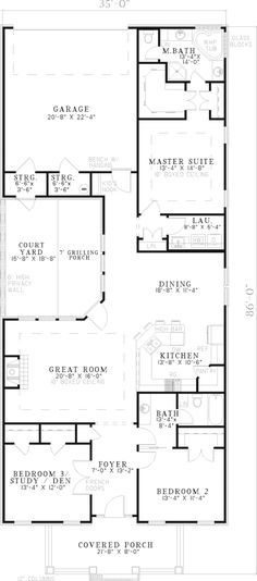 Multi family house plan first floor 055d 0358 from for Multi family house plans with courtyard
