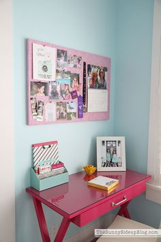 So excited to finally share my daughter's pink and aqua blue preteen girls bedroom with you all today! It's a work in progress but she loves it so far.