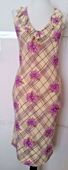 Vero Moda Sleeveless Stretch Dress Womens size S Purple Floral Plaid  #VeroModa #StretchBodycon #Cocktail
