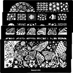 1Pcs New Flower Beauty Designs Nail Stamping Plates Stainless Steel Nail Art Stamp Template Manicure Nail Tools
