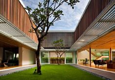 stunning house design with garden center the house.