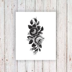 I love tattoos with a vintage feel to it and this drawing of roses is absolutely perfect. It's cute and stylish at the same time! A temporary tattoo for any occ