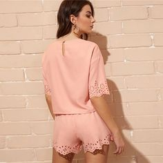 Casual Pink Scallop Trim Laser Cut Keyhole Back Top and Shorts – NuTrending  #summer #instadaily #friends #repost #nature #girl #fun #style #instalike #likeforlike #family #travel #motivation #bodybuilding #life #health #training #model #lifestyle #instagram #exercise #fitfam #beauty #fitnessaddict #photo #cardio #muaythai #boxing #personaltraining #thisistownsville