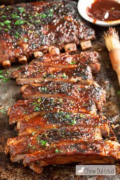 Go to a journey with your family and enjoy making your meal of BBQ ribs in the open air: These BBQ Sriracha Ribs are zesty and scrumptious! They are mostly prepared ahead of time, for super tender, fall-off-the-bone ribs. Slow Cooked Oven Ribs, Ribs In Oven, Pork Rib Recipes, Grilling Recipes, Cooking Recipes, Smoker Recipes, Cooking Tips, Homemade Barbecue Sauce, Homemade Spices