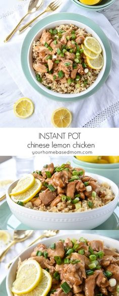 Instant Pot Chinese Lemon Chicken is quicker than take out.  Create a restaurant style lemon chicken in minutes using your Instant Pot.