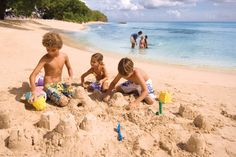 Wow!!! Can you believe that we have all this beach to play on when we visit Almond Beach Resort in #Barbados?