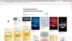 [Added the 'Holy Bible Details & Prayers/Quotes from the Bible' board/category, 12/2/2016 4:00pm (FahmeenaOdetta)]
