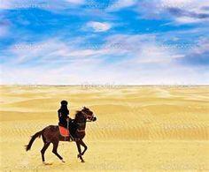 bedouin on horse.
