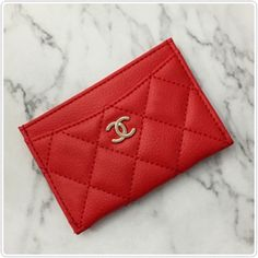 7f9350d6a61675 CHANEL Beaute VIP Gift Credit Card Holder Matt Synthetic Leather in Red # Chanel แต่งหน้า,