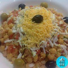 Ensalada de garbanzos de Juani, una forma fresquita de comer legumbres.
