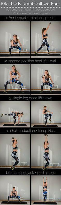 total body dumbbell workout pin -- alala style -- www.nourishmovelo...
