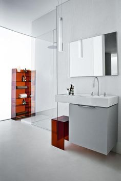 kartell by LAUFEN. Visit us at www.ie to view our Laufen range. Laufen Bathroom, Bathroom Sinks, Bathroom Ideas, Complete Bathrooms, Bathroom Collections, Rack Shelf, Towel Rail, Bathroom Furniture, Modern Bathroom