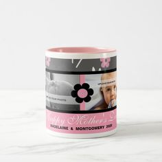 Shop Mother's Day Personalized Photo Mug Pink created by PersonalExpressions. Personalized Photo Mugs, Coffee Cups, Tea Cups, Mother's Day Mugs, Candy Jars, Mug Cup, Gifts For Dad, Dinnerware, Ceramics