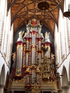 The organ Mozart played when he was 10 years old. St. Bavo's church in Haarlem, Netherlands.