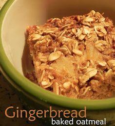 Finding Joy in My Kitchen: Gingerbread Baked Oatmeal