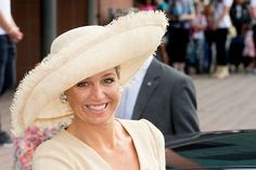 Queen Maxima at the Ambassador Days in Amsterdam -- Maxima wears these large picture hats so well!
