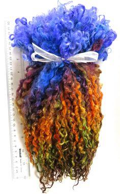 Teeswater Locks Hand Dyed Extra Long Extreme by RainbowTwistShop