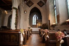 The Church, Dressed With Pew Ends, Pedestal, Swags & Windowsills