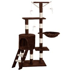 TecTake Cat tree scratcher activity center brown ** You can find out more details at the link of the image. #CatScratchersandFurniture