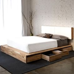 Queen Platform With Storage by Mash Studios. Marriage of form and f...