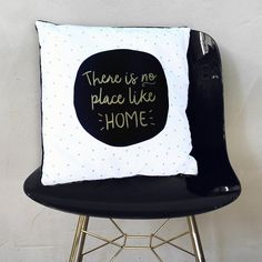 No Place Like Home Cushion New Home Gifts, First Home, Gifts For Friends, New Homes, Polka Dots, Cushions, Throw Pillows, How To Make, Gifts For New Home