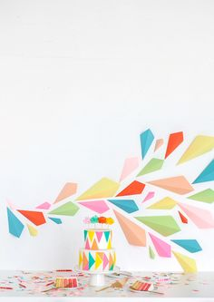 Geometric paper background...