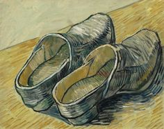 Vincent Willem van Gogh (1853-1890) A Pair of Leather Clogs 1889. Oil on canvas. 32.2 x 40.5 cm. Van Gogh Museum, Amsterdam. F0607, JH1364.