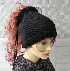 Cotton Dreadlock Headband Dread Slouchy Black dread