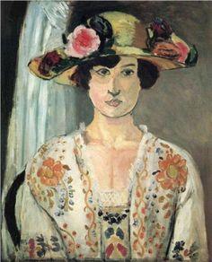 Woman+in+a+Hat++-+Henri+Matisse