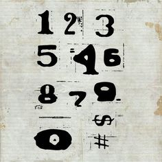 ROBEN-MARIE SMITH - Distressed Numbers Unmounted Rubber Stamp Sheet