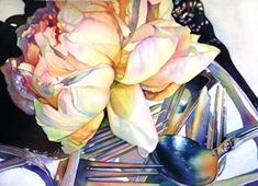 """""""Peony and Silver"""" by Tracy Lewis"""