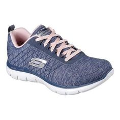 Soft heathered jersey knit fabric upper in a lace up athletic sporty  training sneaker with stitching accents and Air Cooled Memory Foam ...
