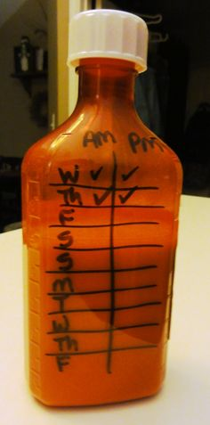 Genius way to keep track of giving medicine