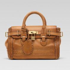 Gucci 263945 Ang6a 2517 Handmade'Medium Top Griff Tasche mit Woven Web De Gucci Damen Handtaschen