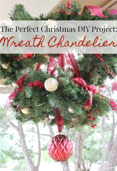how to make a christmas wreath chandelier - Decorated Christmas Wreaths Pinterest