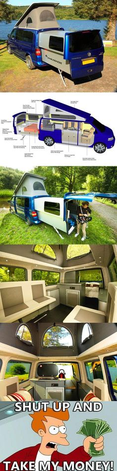 want- wow! I so want this! Sure beats driving a big motor home or pulling a trailer