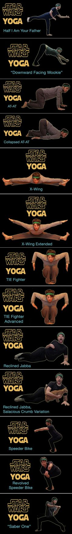 Relaxation warm-ups for drama class. Star Wars Yoga Poses! @Laura Dean