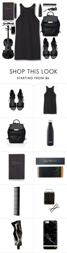 """""""# music class #"""" by kymtkose ❤ liked on Polyvore featuring MANGO, Alexander Wang, S'well, Smythson, Sloane Stationery, GHD, Aesop and Richmond & Finch"""