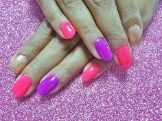 nails design gelish neon