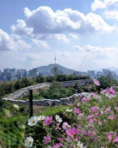 View from Inwangsan mountain, seoul, Korea
