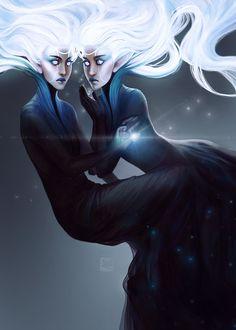 Gemini, Zodiac, · exellero · on ArtStation at https://www.artstation.com/artwork/WYn0D