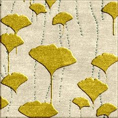 Custom Rug inspired from a fabric swatch of Ginkgo Leaves