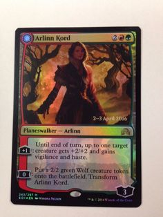 Magic the Gathering: Foil Promo Arlinn Kord from Shadows Over Innistrad NM/M #WizardsoftheCoast #mtg