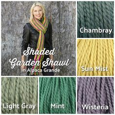 46f797469 A beautiful FREE knit shawl pattern in ALL the colors!