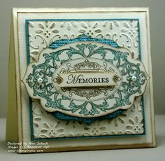 "Ann Schach  SU - ""Layered Labels"" stamp set with Apothecard Accents Framelit die"