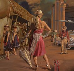 detail from '20th CENTURY LIMITED' by Peregrine Heathcote