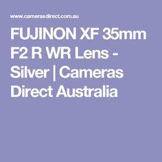 FUJINON XF 35mm F2 R WR Lens - Silver | Cameras Direct Australia