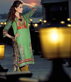 HSY Embroidered Lawn Suits 2015 H-010B