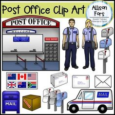Clip Art Post Office Clip Art post office posts and clip art on pinterest set